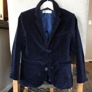 Boys 4/5 HM velvet navy blazer